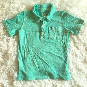 2/$10 Carter's Boy Green/Blue Distressed Polo